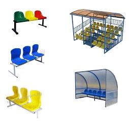 Скамейки с пластиковыми сиденьями